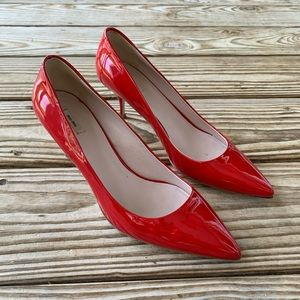 Miu Miu Red Patent Leather Heels